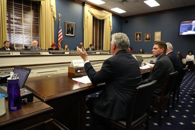 Chuck Wetherington Testifies on the State of Trade for U.S. Small Businesses