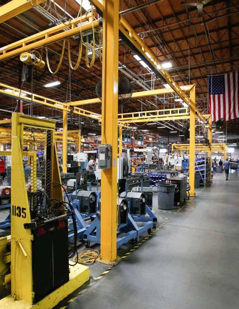 A manufacturing facility's shopfllor