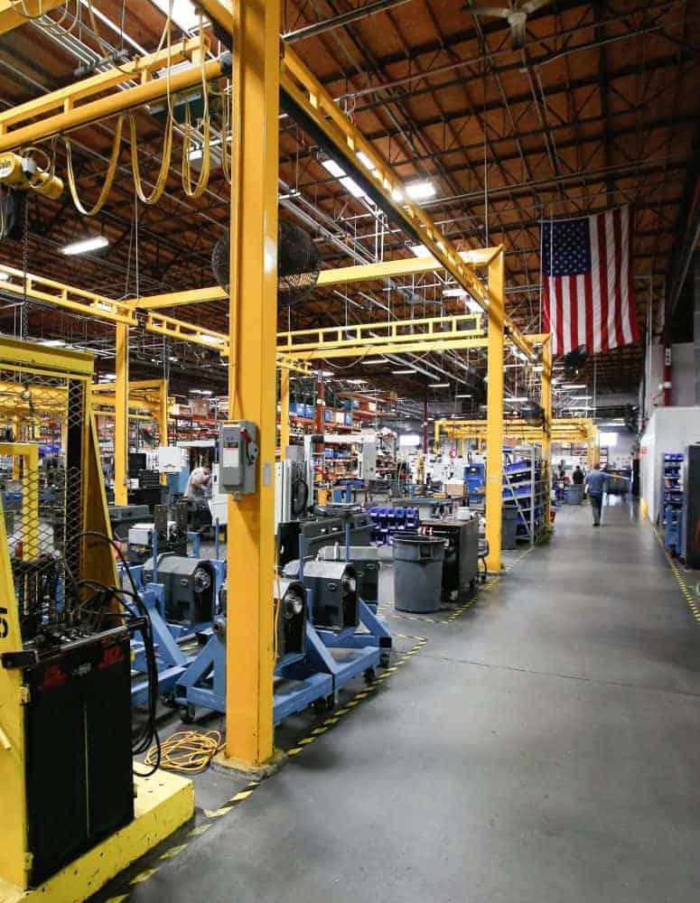 A manufacturing facility shopfloor