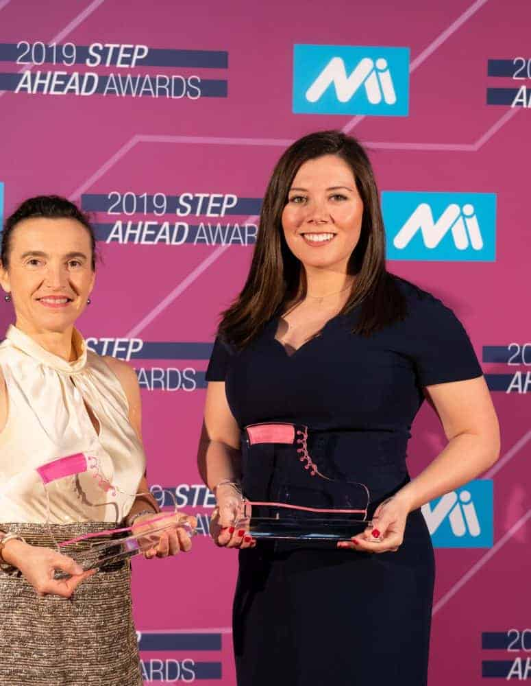 Christine George and Laura Mahany at the 2019 STEP Awards