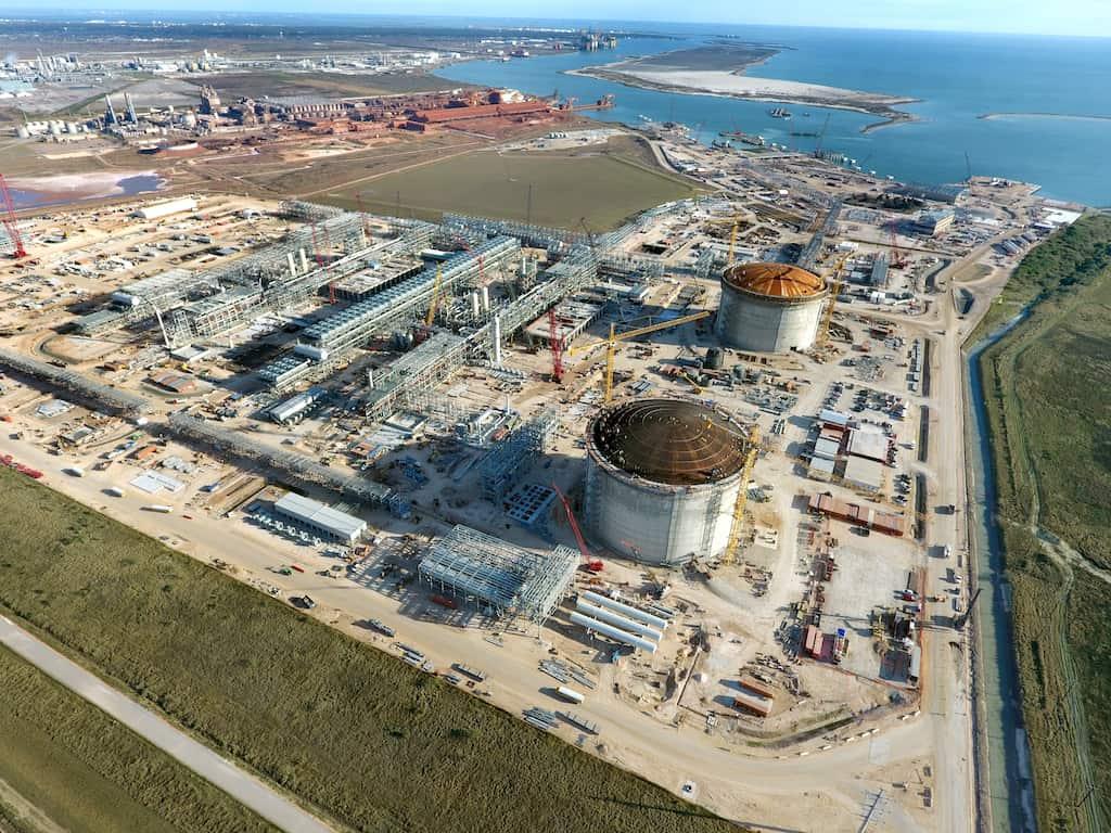 Cheniere Energy LNG export facility in Corpus Christi