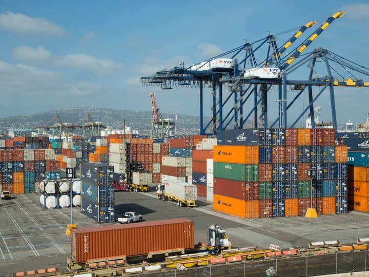 cargo unloaded at port of Los Angeles