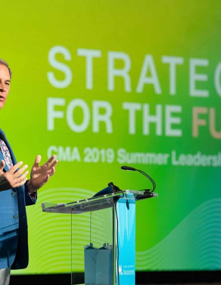 Jay Timmons speaking at CMA conference