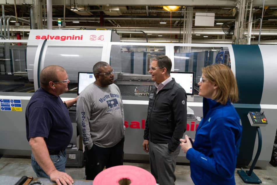 NAM President and CEO Jay Timmons and Manufacturing Institute Executive Director Carolyn Lee visit ABB on Feb. 22, 2019, in Mebane, North Carolina, during the 2019 State of Manufacturing Tour. Photo by David Bohrer.