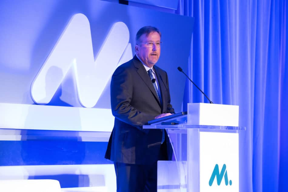 Michael Lamach, NAM Board chair and chairman and CEO of Trane Technologies plc, at the NAM board meeting in September 2019 in Washington, D.C.