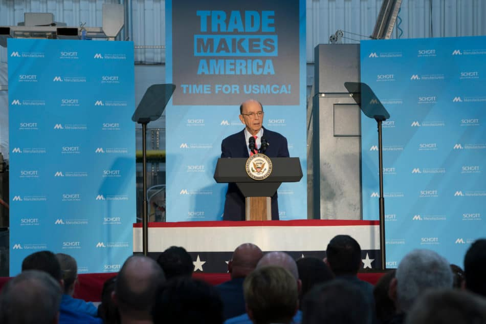 U.S. Commerce Secretary Wilbur Ross joins the NAM to advocate passage of the USMCA.